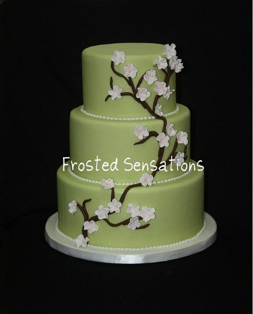 Cherry Blossom Wedding Cake by Virginia