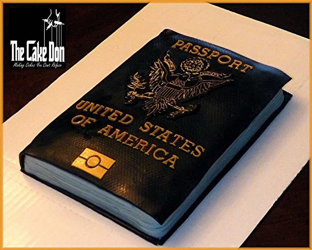 The UNITED STATES PASSPORT Cake by TheCakeDon