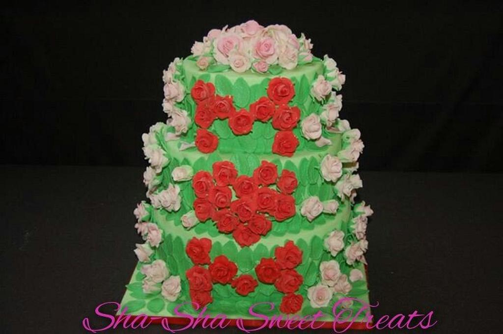Mother's Day Rose Garden Cake by Sharon