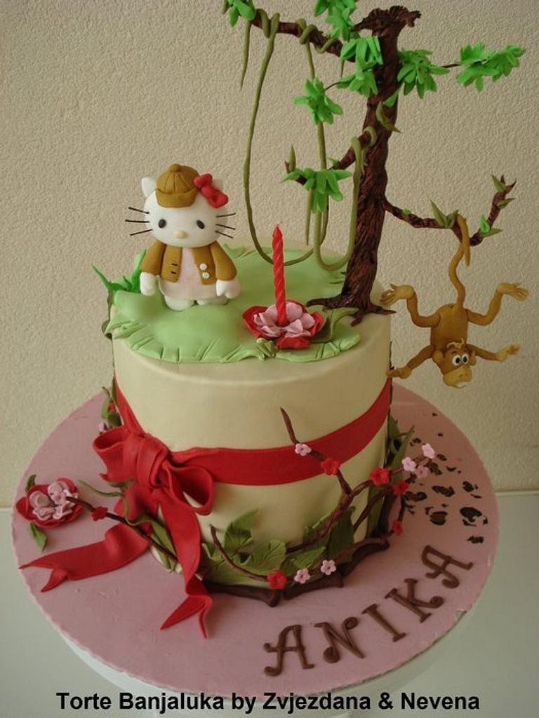 Hello Kitty in Jungle Cake by zvjezdana