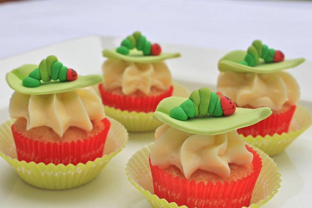 Very Hungry Caterpillar Cupcakes by Alison Lawson Cakes