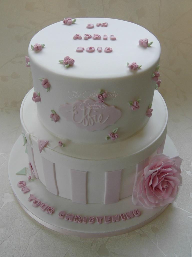 Rose Christening by The Cake Lady (Tracy)