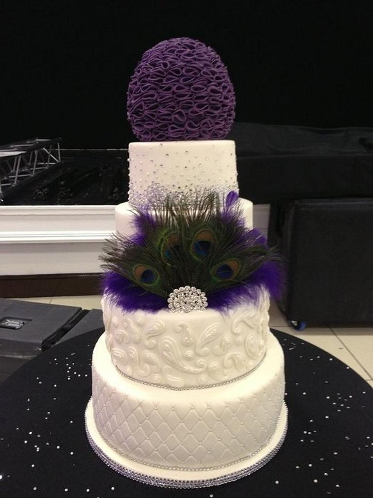 Purple peacock wedding by Emmabonjour