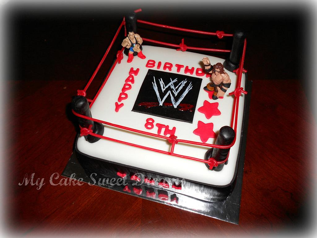 WWE Wrestling Cake by My Cake Sweet Dreams