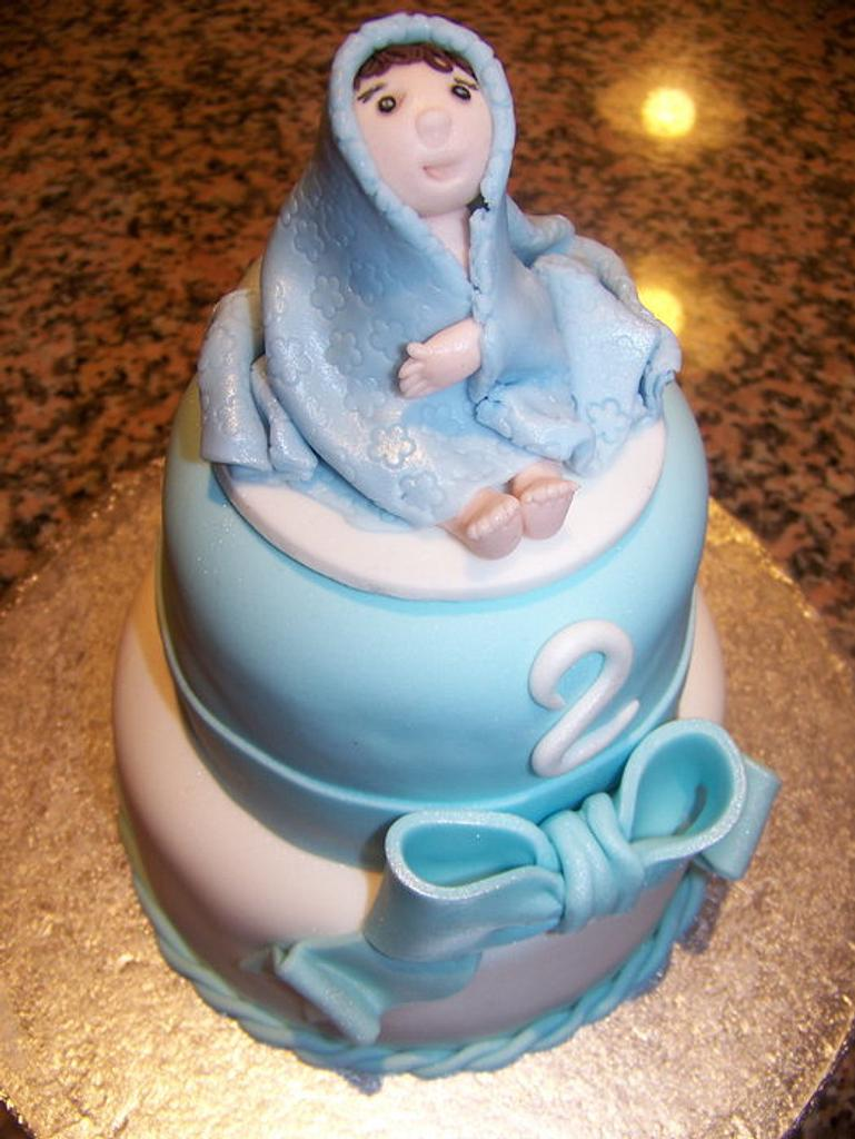 Little Boys 2nd birthday Cake by Laura Jabri