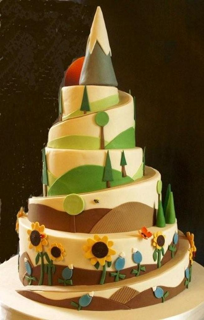 Mountain Hiking Cake by Laurie Clarke Cakes