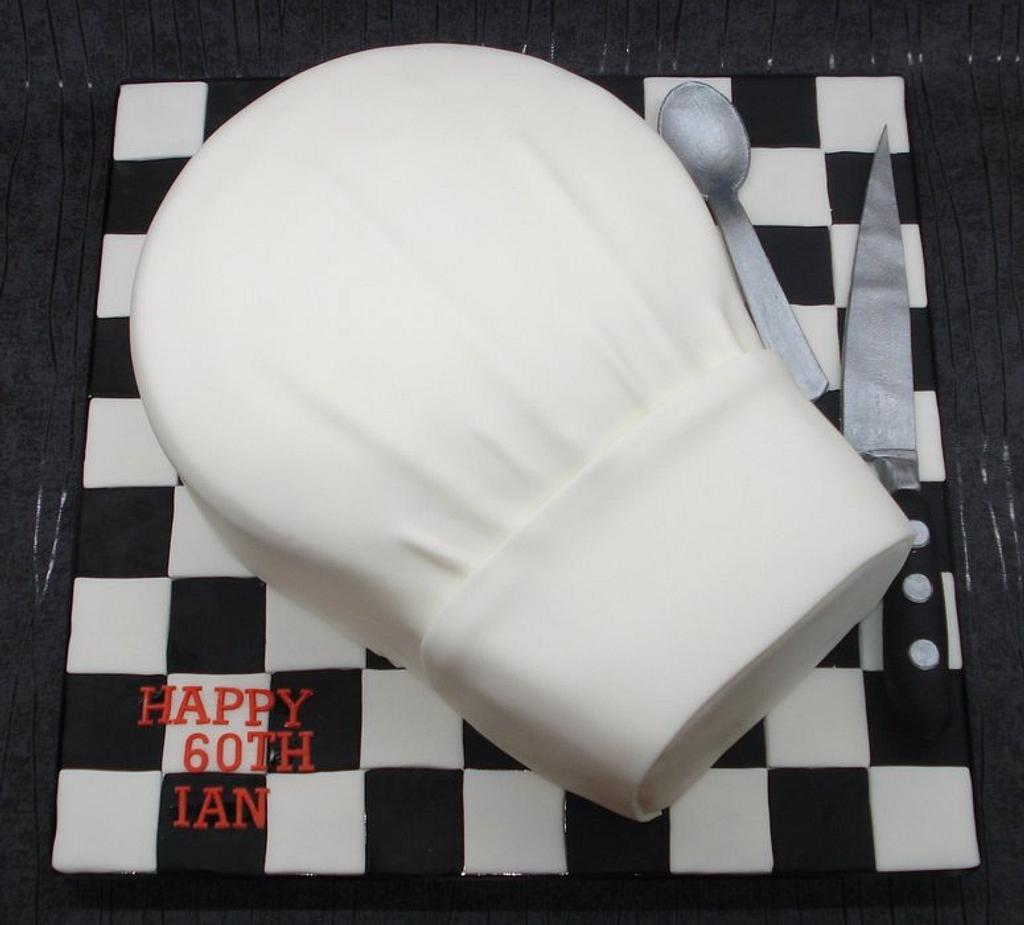 Chefs hat cake by That Cake Lady
