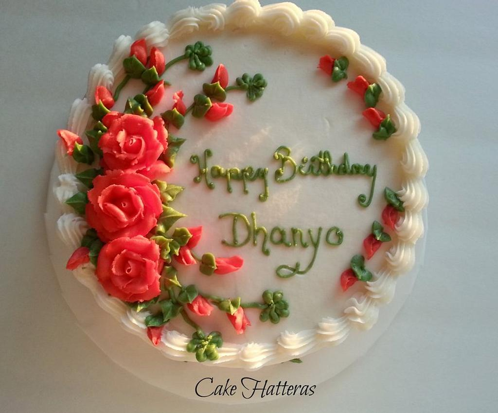 Shamrocks and Roses by Donna Tokazowski- Cake Hatteras, Hatteras N.C.