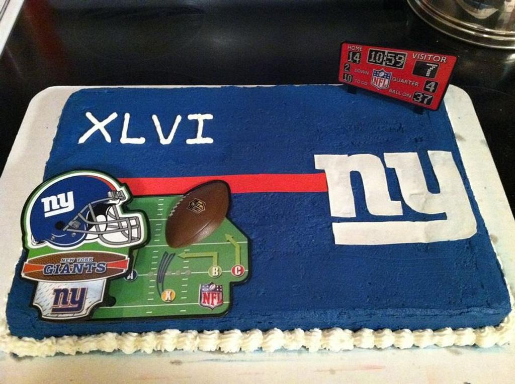Super Bowl Cake by Shameless Sweets by Sarah