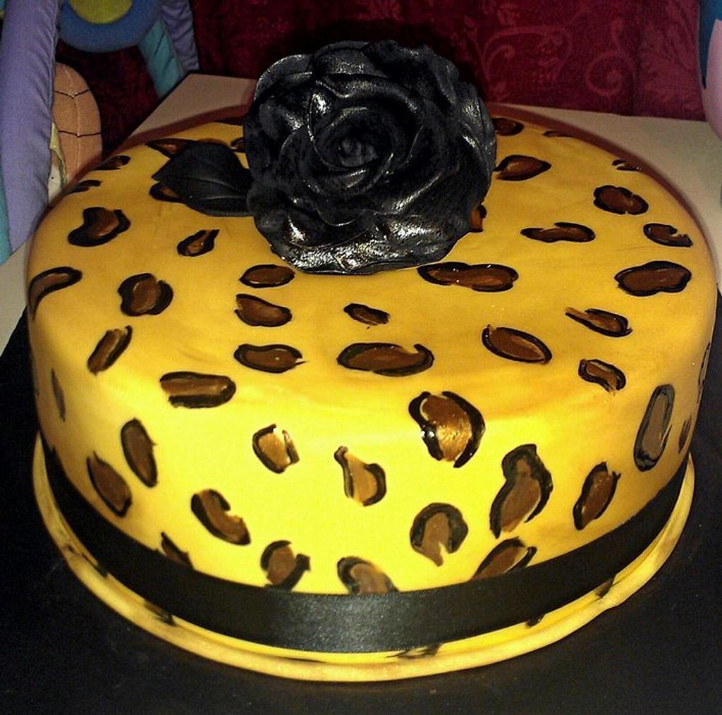 leopard cake by jodie baker