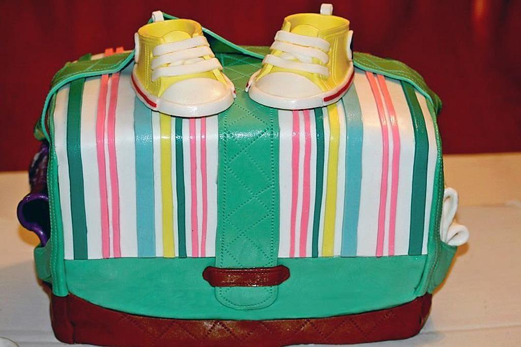 Diaper Bag cake by Random Acts of Sweetness
