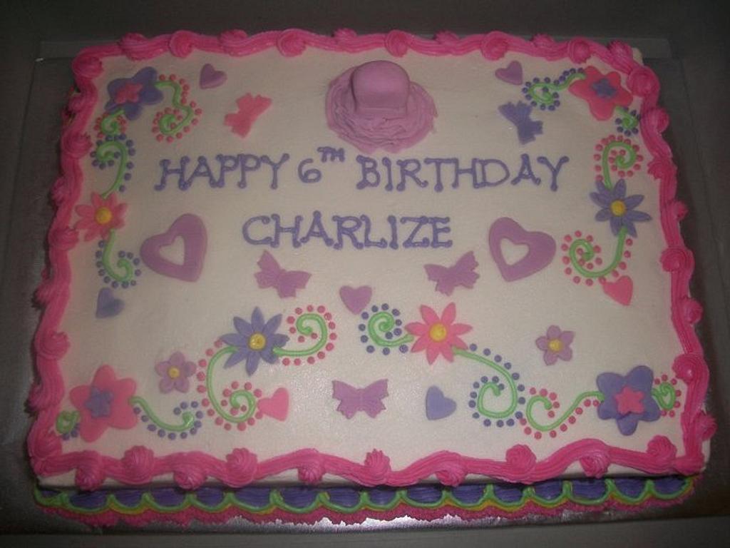 Girly Sheet Cake  by caymancake