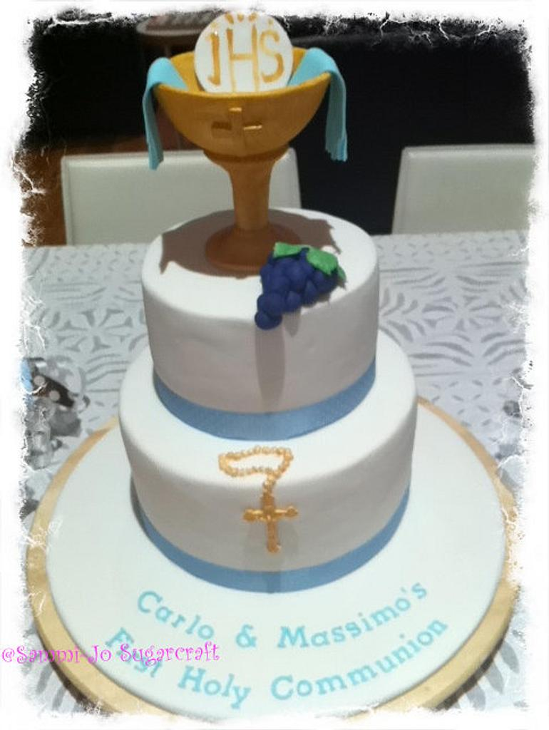 First Communion Cake by Sammi-Jo Sweet Creations
