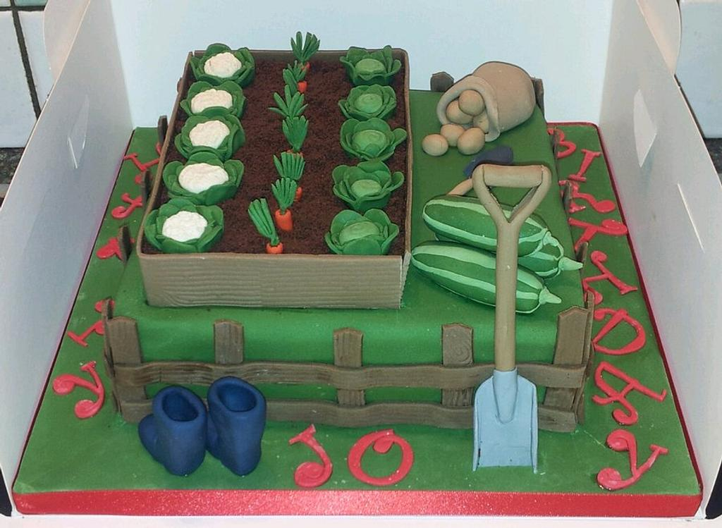 Allotment birthday cake by Jan