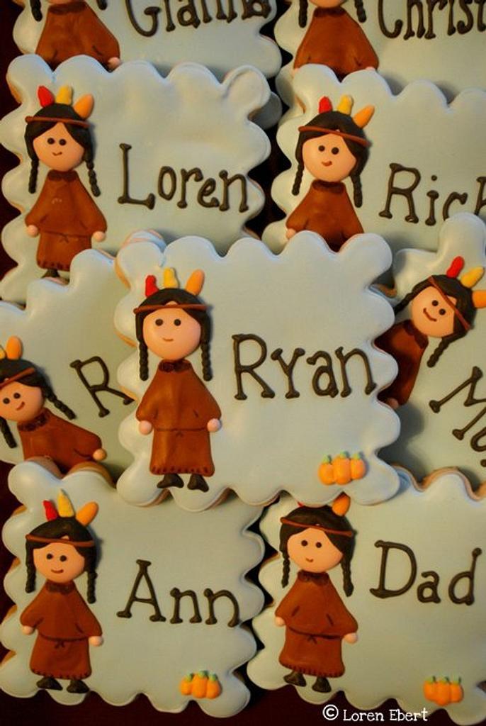 Thanksgiving Placecard Cookies! by Loren Ebert
