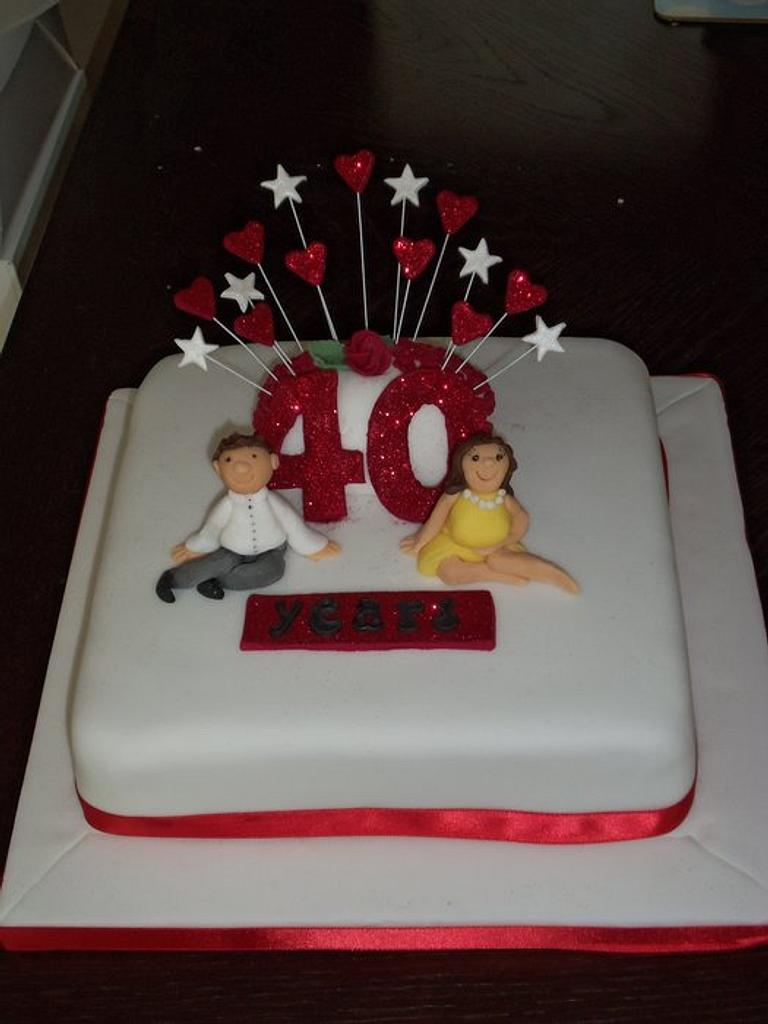 First Ruby Wedding Cake! by Helen