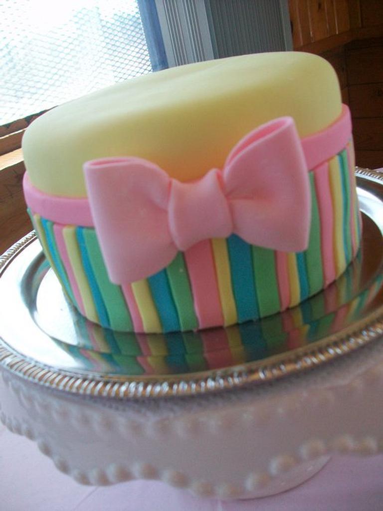 Striped Birthday Cake by Heather