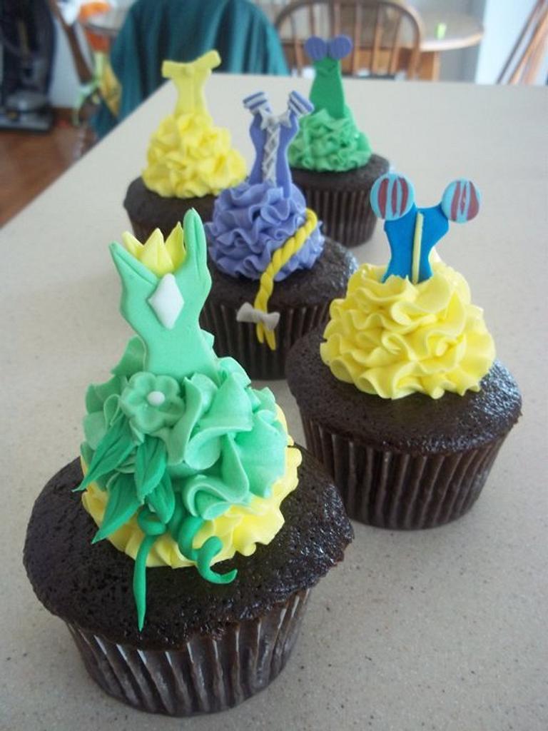 Disney Princess Dress Cupcakes by cakes by khandra