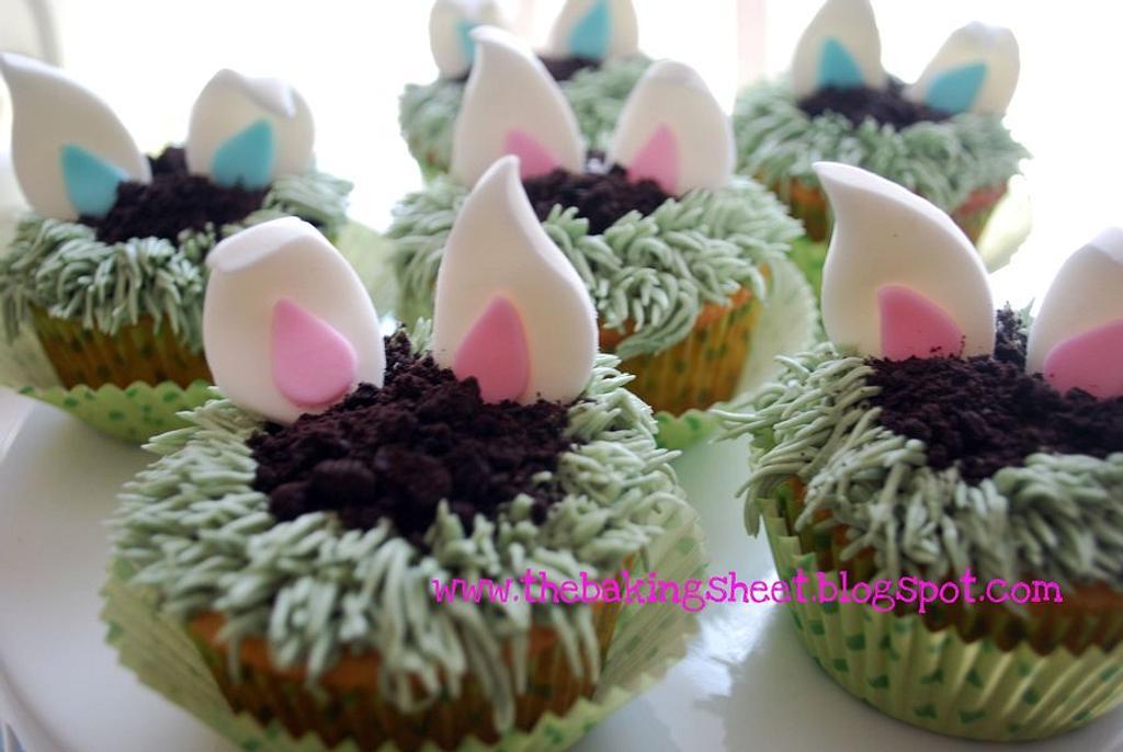 Easter Bunny Cupcakes! by Loren Ebert