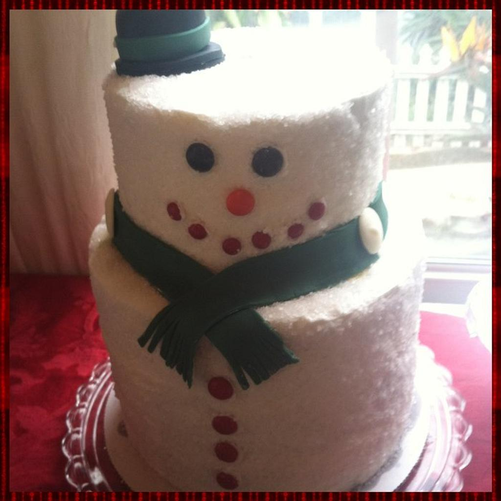 Frosty the Snowman Cake by Michelle Allen