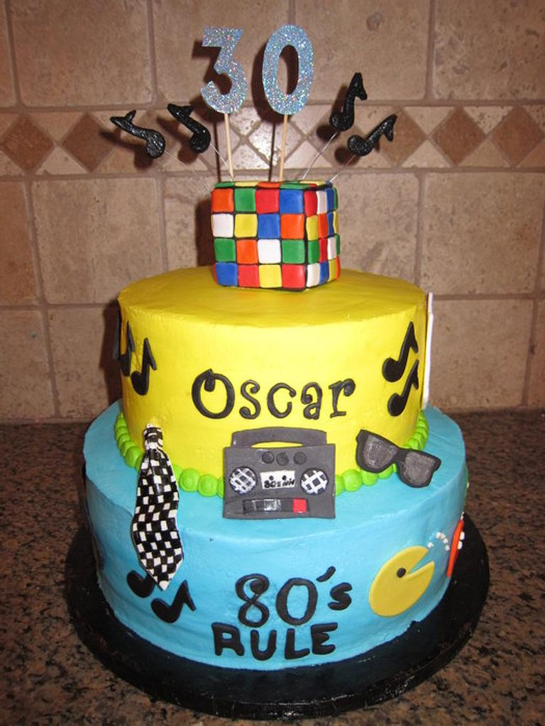 80's themed cake by vkylyn