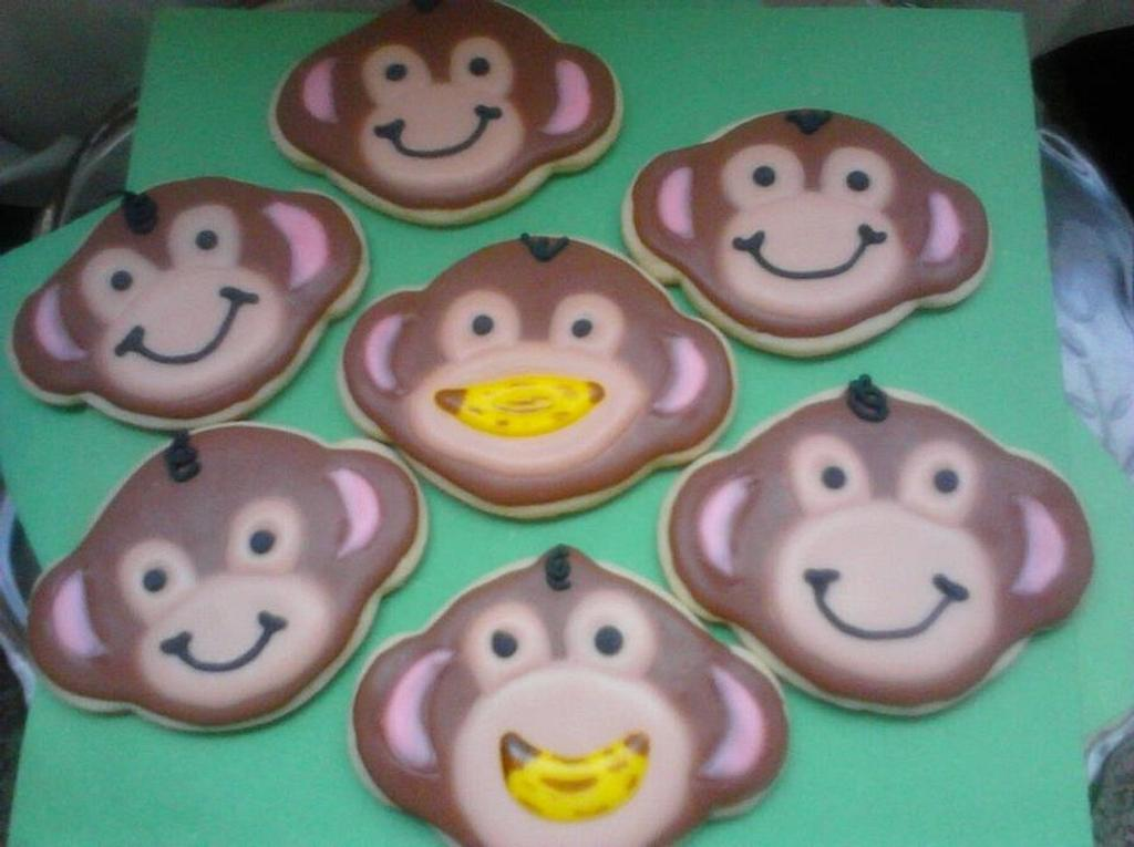 monkey cookies by CC's Creative Cakes and more...