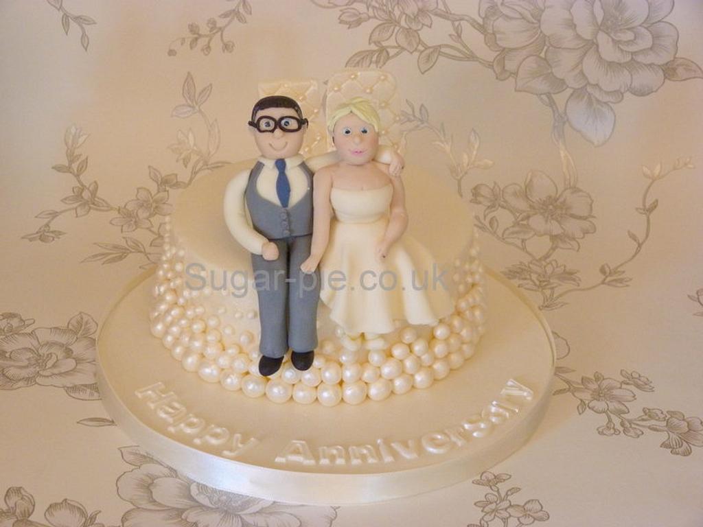 Pearl wedding anniversary cake by Sugar-pie