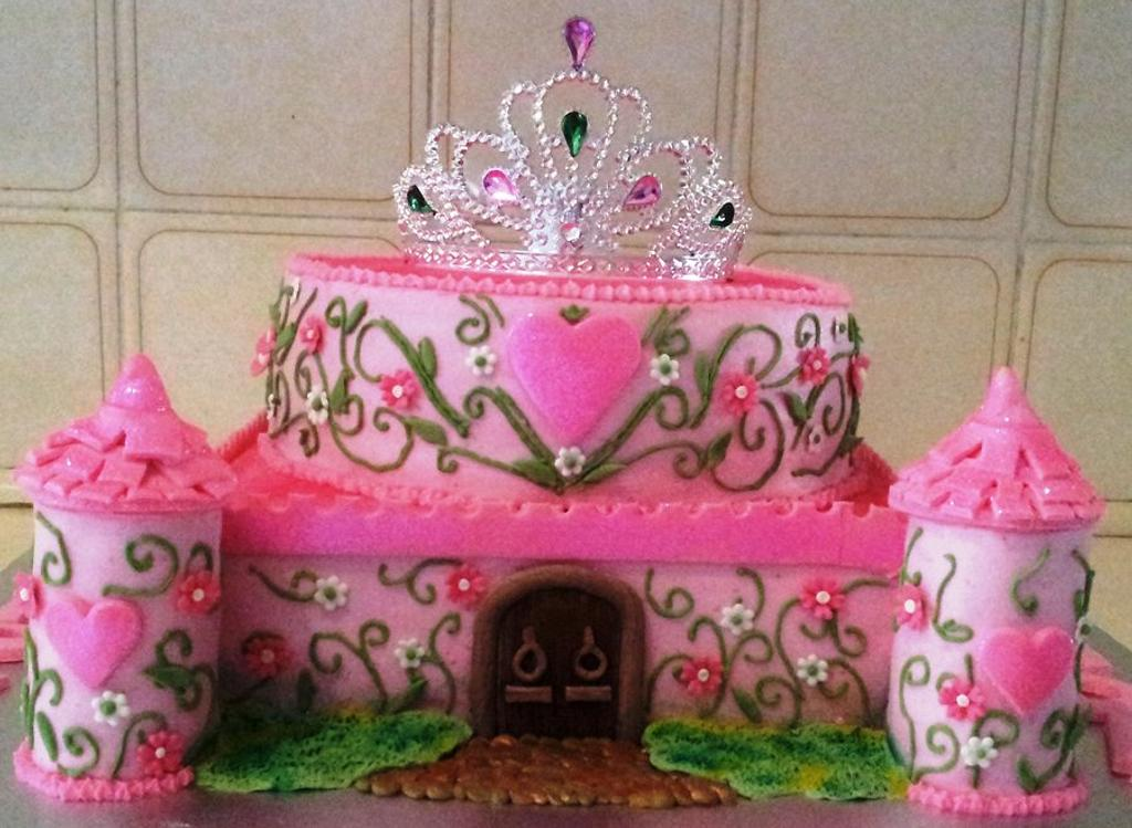 Fairy Princess Castle Cake by Renee Rahaman
