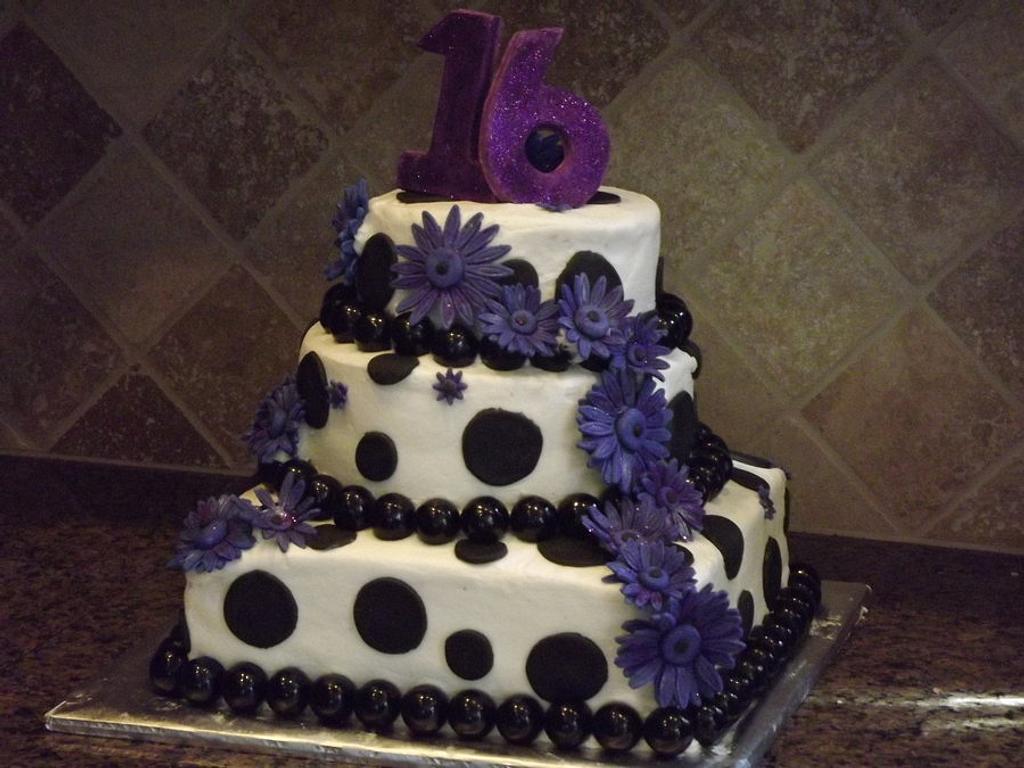 Sweet 16 - Purple Daisies by Diane