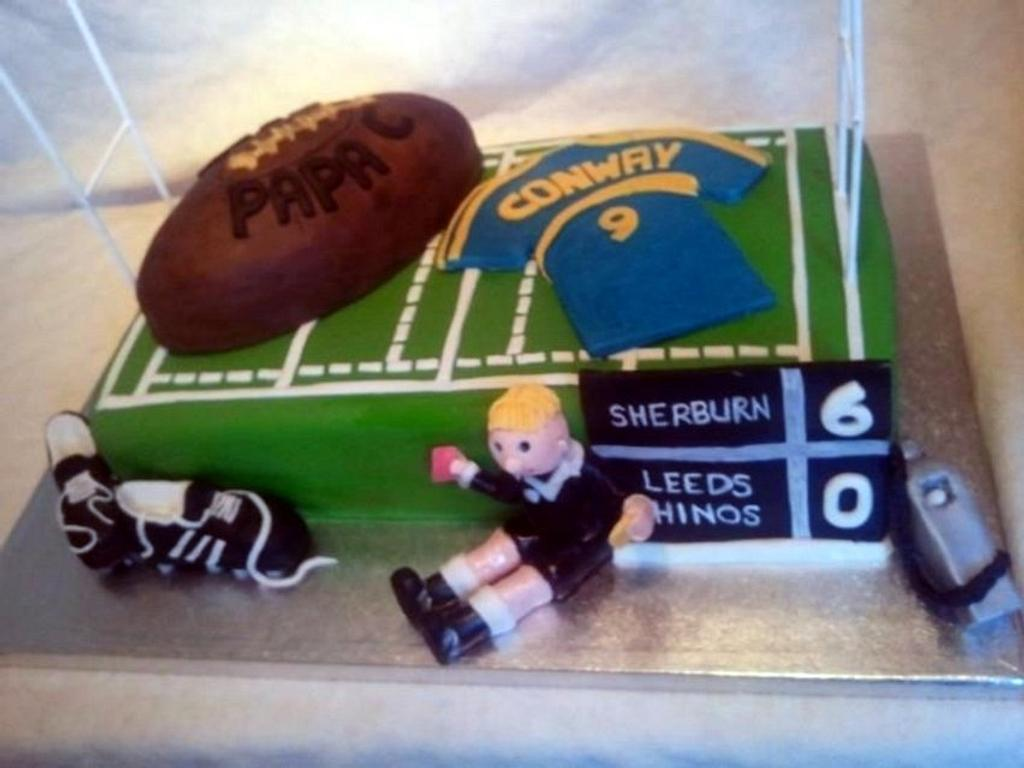Rugby Cake by ldarby