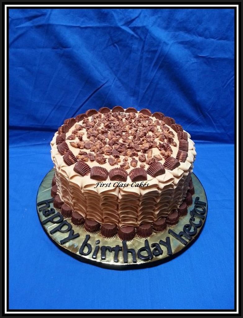 Reeses Cup Chocolate Peanut Butter Cake by First Class Cakes
