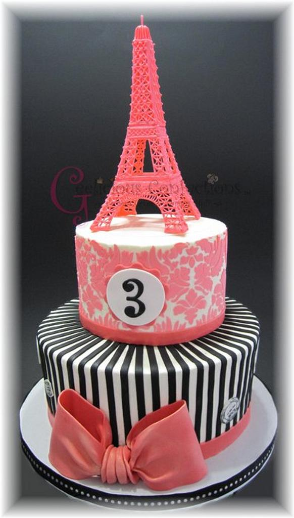 Eiffel Tower Cake by Geelicious Confections