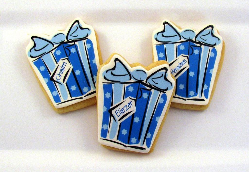 Gift Box Cookies by Cheryl