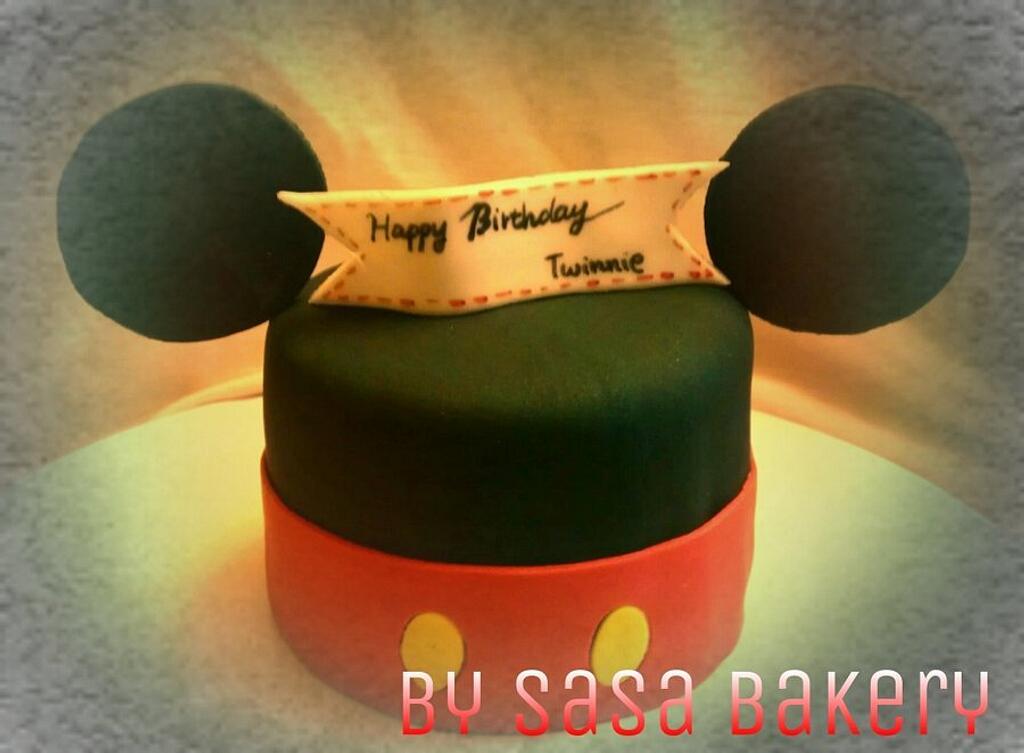 mickey mouse cake by SaSaBakery