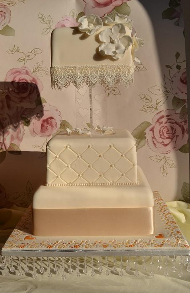 Ivory Tower Wedding Cake by Tiers of Indulgence