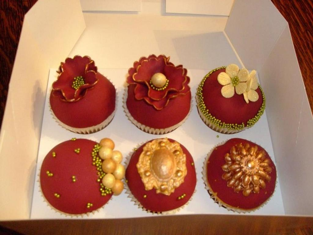 vintage ruby cupcakes by lesley hawkins