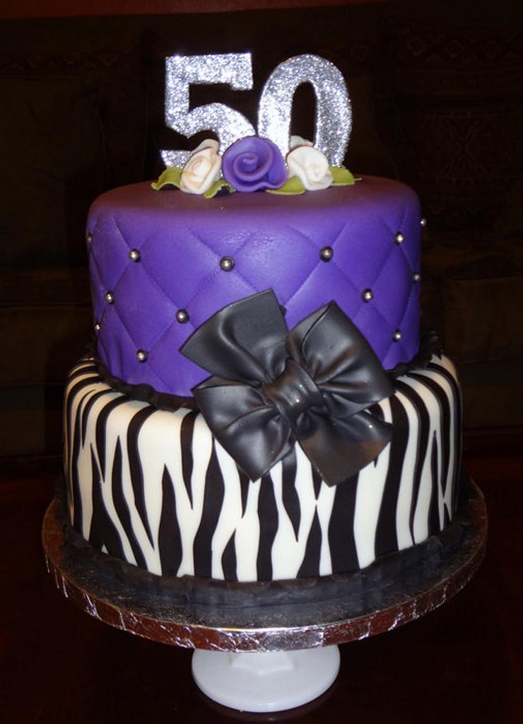 Purple zebra cake by Nissa