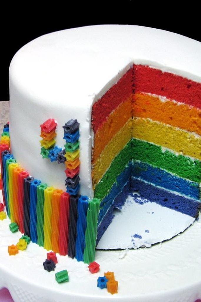 Ella's Rainbow Cake by Sarah