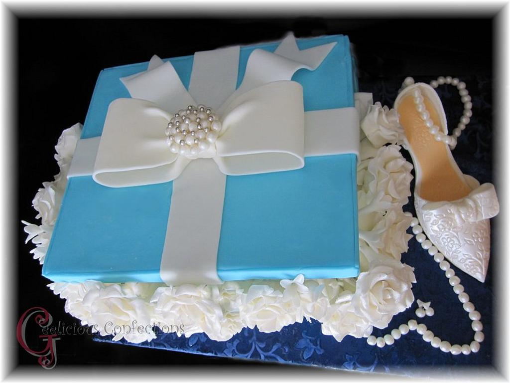 Tiffany Inspired Box Cake by Geelicious Confections