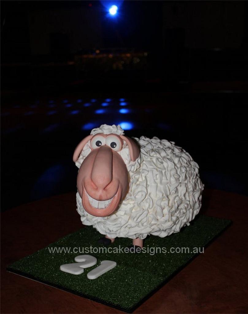Sheep Cake by Custom Cake Designs