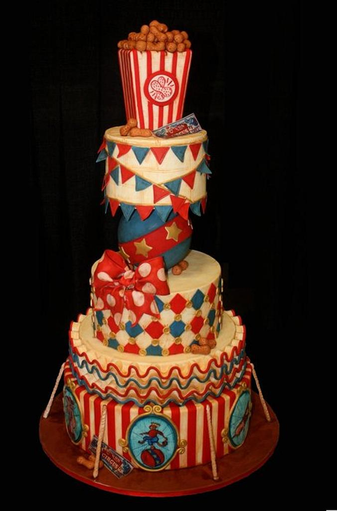 Vintage Circus Cake by pieceofcaketx