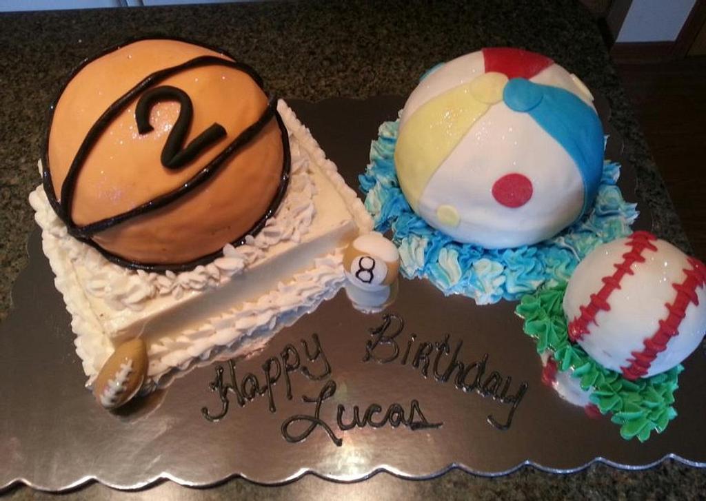 Sports Ball Cake by Patty's Cake Designs