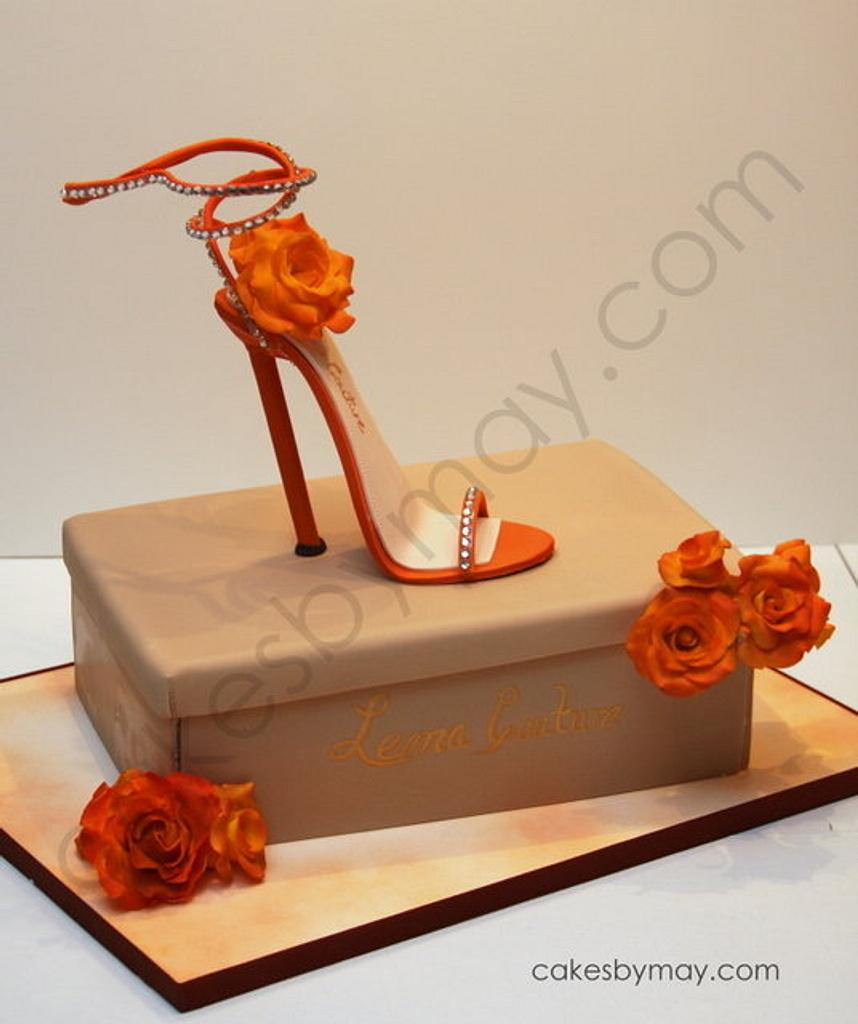 Stiletto Shoe and Box Birthday Cake by Cakes by Maylene
