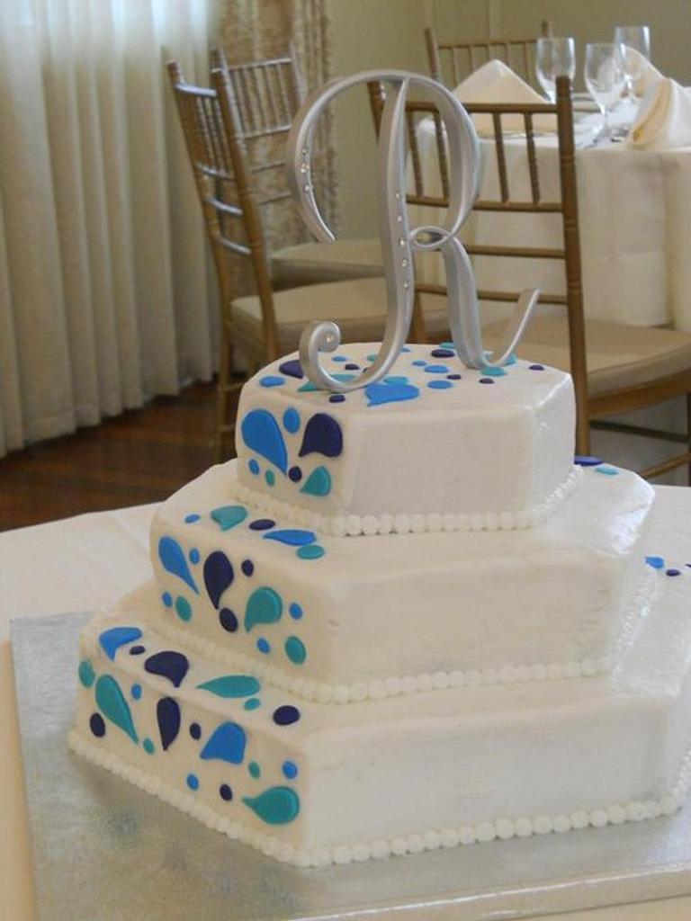 Splash wedding cake  by michelle