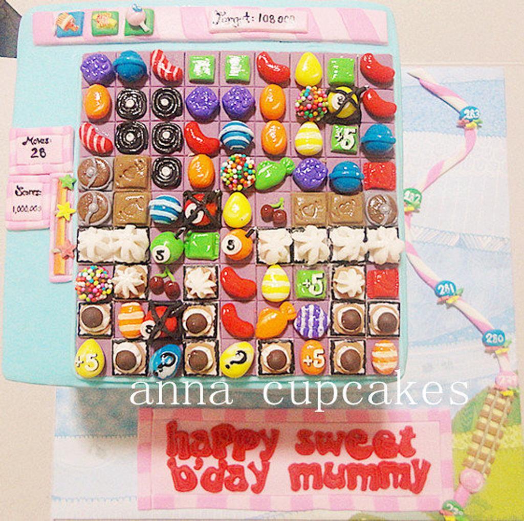 candy crush cake by annacupcakes