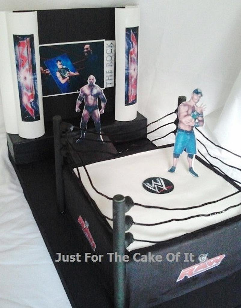 WWE wrestling cake by Nicole - Just For The Cake Of It