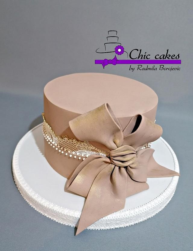 Astonishing Elegant Birthday Cake Cake By Radmila Cakesdecor Funny Birthday Cards Online Overcheapnameinfo