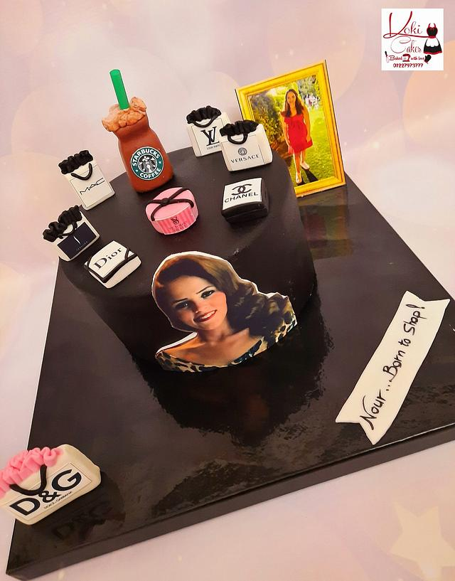 """Born to shop cake"""