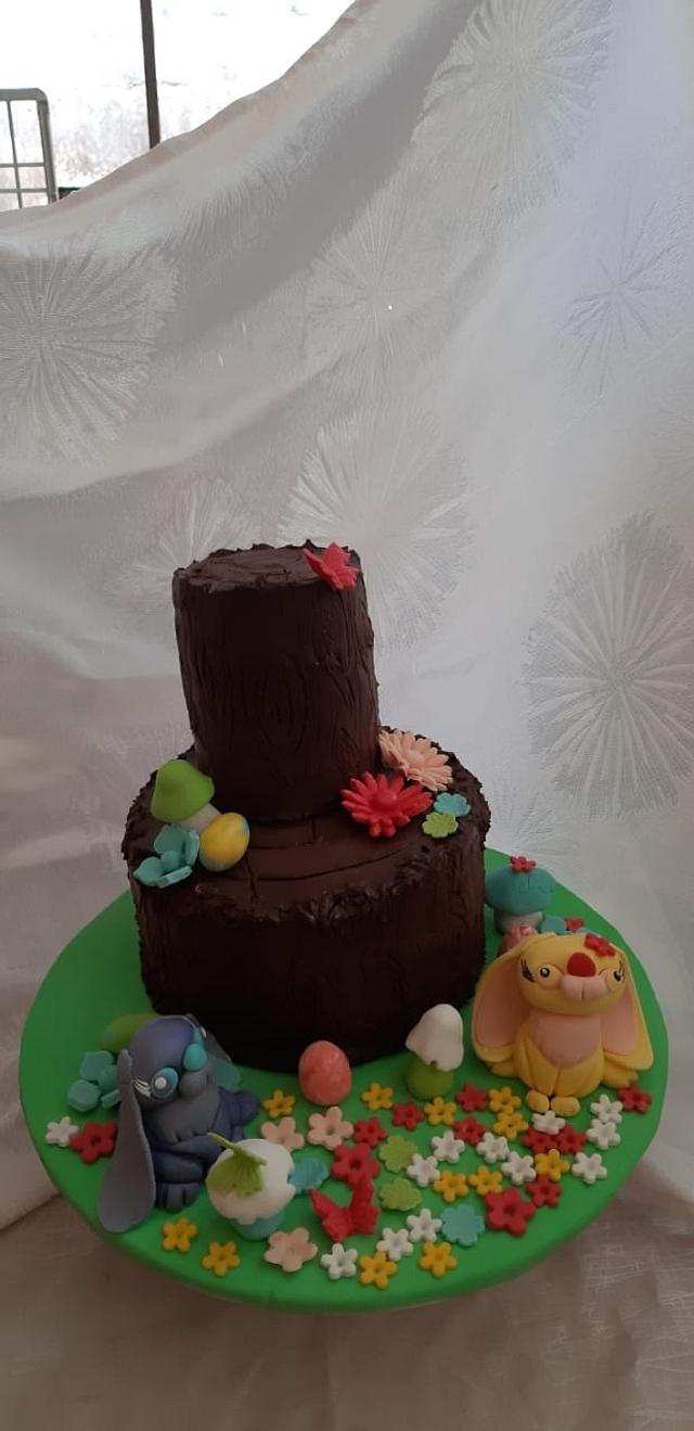 Easter  bunnies' cake