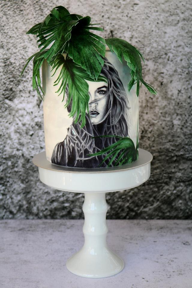 Woman in Tropic Garden